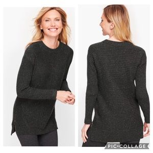 NWT T by Talbots Dream Tweed Mixed Stitch Sweater